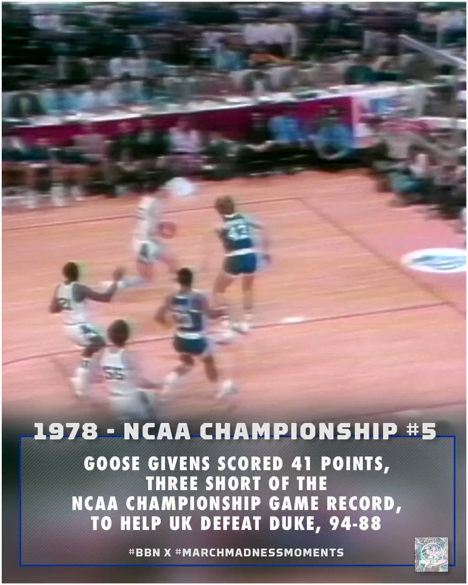 1978 🏆#5 #BBN x #marchmadnessmoments | #TGT: 𝗧he 𝗚reatest 𝗧radition | @goosegivens