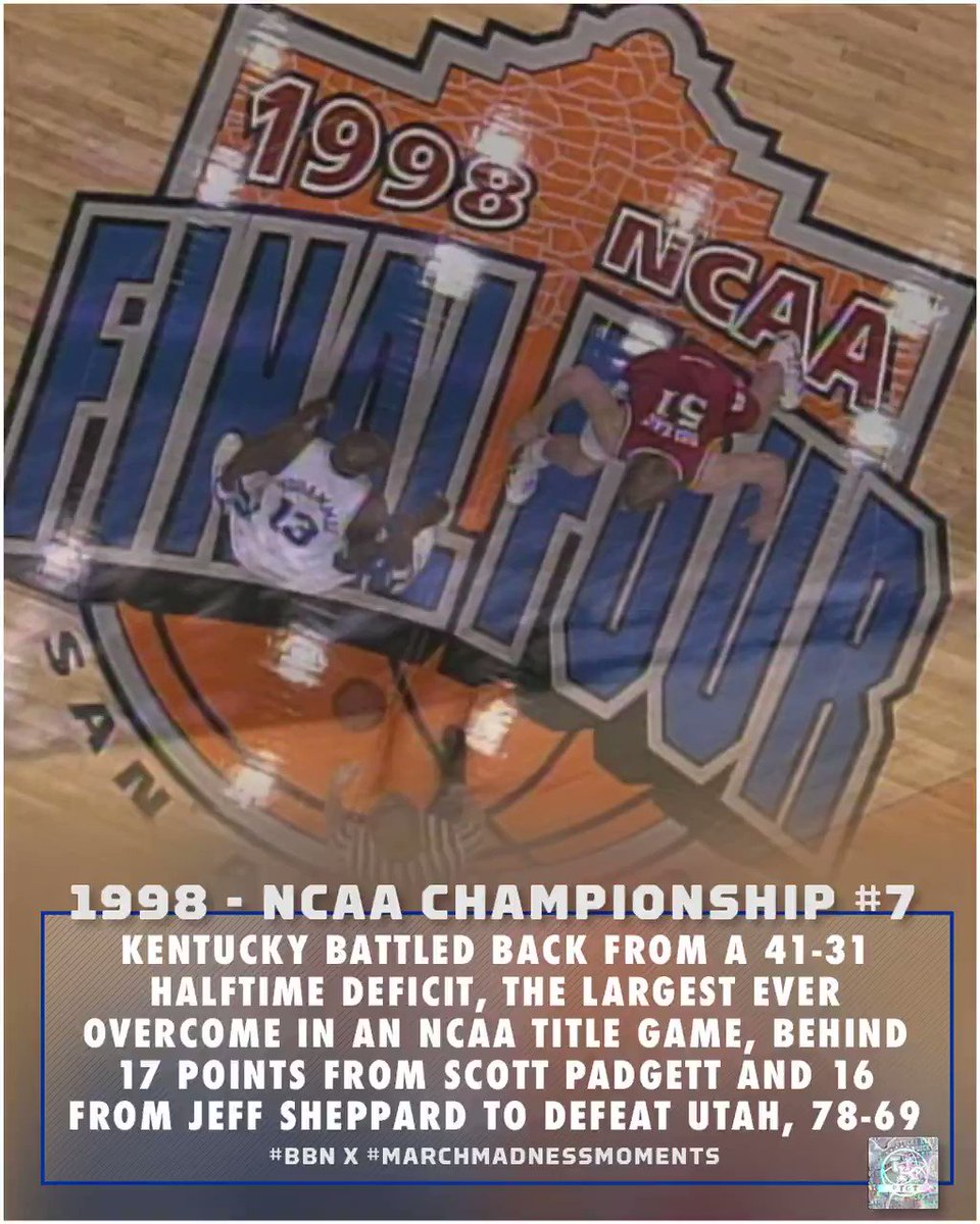 1998 🏆#7 #BBN x #marchmadnessmoments | #TGT: 𝗧he 𝗚reatest 𝗧radition