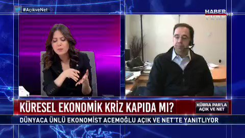 Prof. Daron Acemoğlu anlattı! Ekonomik krize karşı devletlerin atması gereken 5 adım... Kübra Para konuştu... @kubrapc haberturk.com/daron-acemoglu…