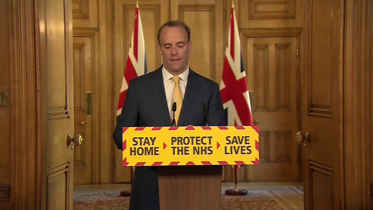 Dominic Raab, UK Foreign Secretary: Im confident [PM Boris Johnson will] pull through. Because if there is one thing I know about this Prime Minister: hes a fighter. And hell be back at the helm, leading us through this crisis in short order.