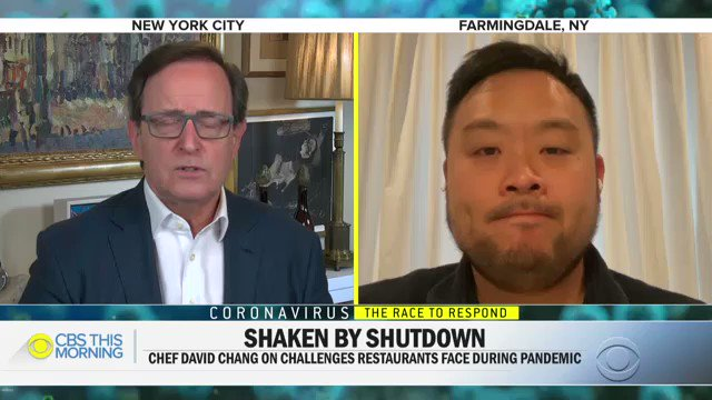 WATCH: @Momofuku founder @DavidChang discusses the harsh new reality facing the restaurant industry amid the #coronavirus pandemic, and what people can do to help their local restaurants.pic.twitter.com/9UdwtTOIg5