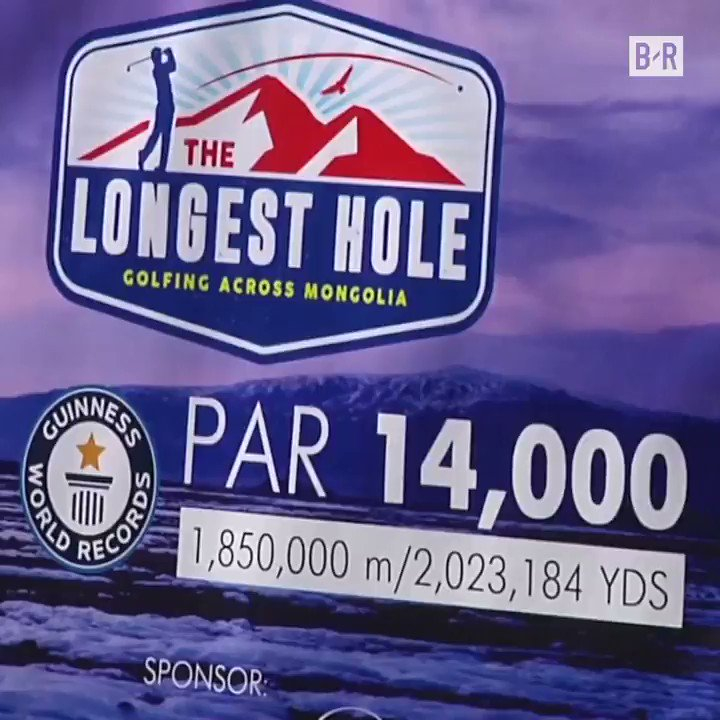 80 days. 1,200+ miles. Never forget this unbelievable par-14K golf course in Mongolia 😳
