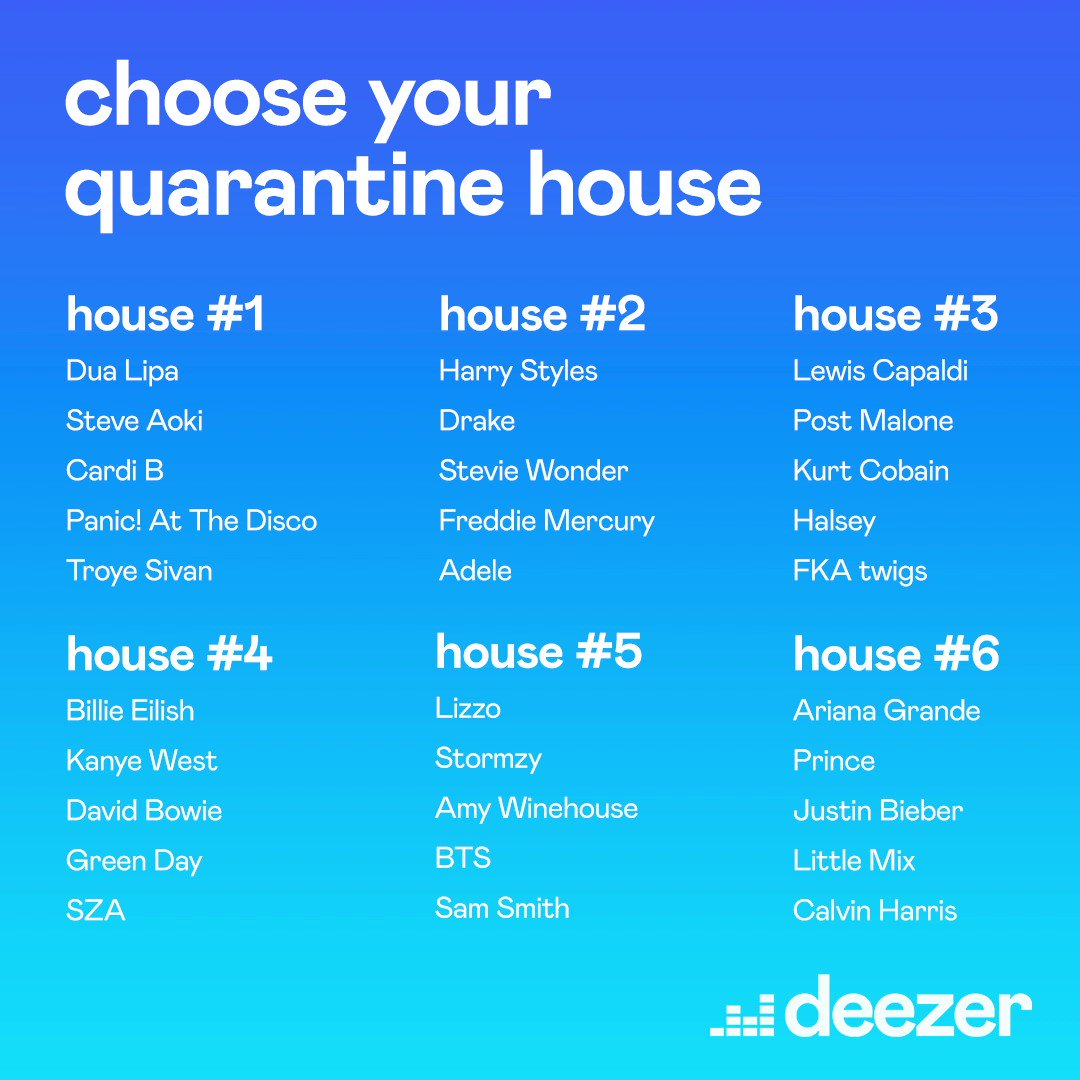 Pick your #QuarantineHouse! Would you #ToosieSlide with @Drake and @Adele? or party with @BTS_twt? Go 👇👇👇