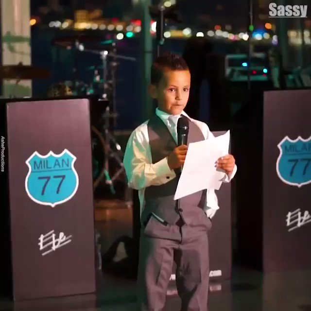 This 7 year old best man made an incredibly special speech for his father ❤️️😭