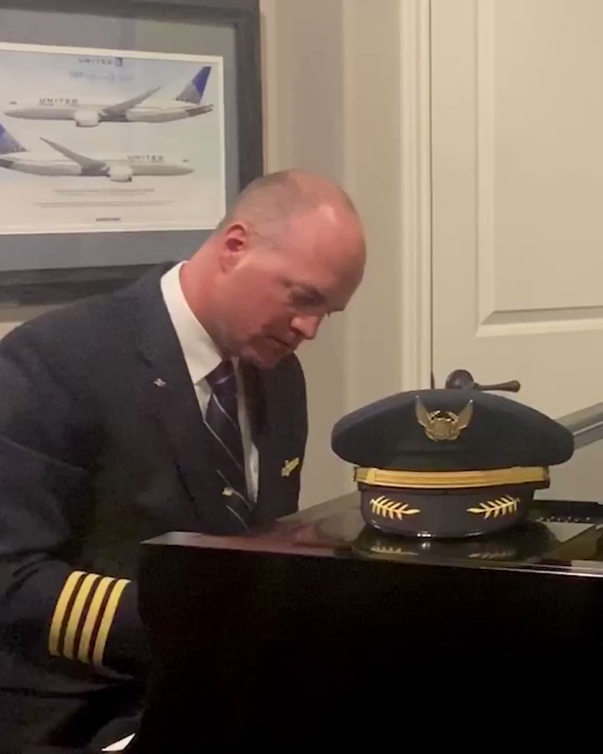 #UnitedTogether by one big beautiful sky. ☁️ Rhapsody in Blue performed by United Captain Beau B., set to footage provided by our #BeingUnited employees from their previous travels.