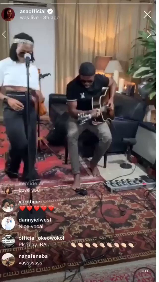 .@Asa_official singing @davido's 'IF' might just be the sweetest thing we never knew we needed https://t.co/64wQZF7n9V