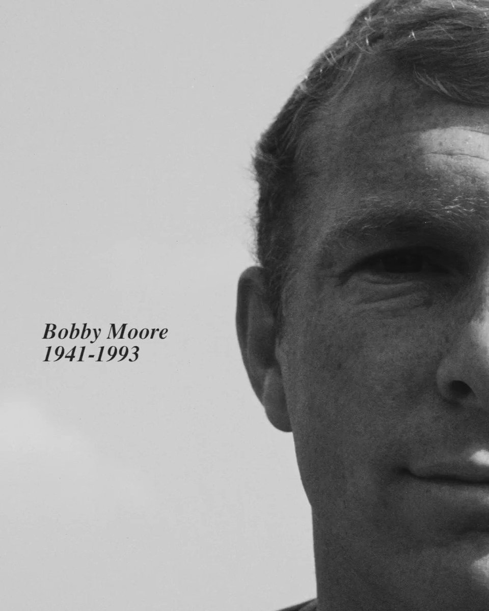 The greatest ❤️  Twenty-eight years ago today, Bobby Moore passed away.