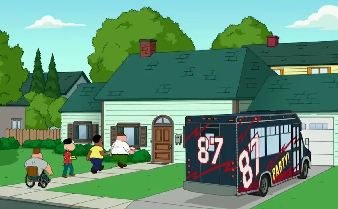 Gronk is moving again — remember that time he moved to Quahog?