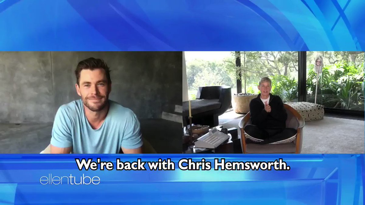 Replying to @TheEllenShow: .@ChrisHemsworth told me about his upcoming roles – as a stripper, a hero, and a god.