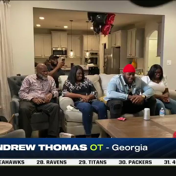 Andrew Thomas is a Giant and he's pumped about it. 💪 @allforgod_55 #NFLDraft