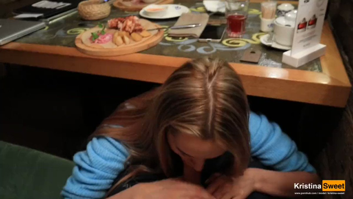 Public blowjob party with luxurygirl after lunch in a restaurant