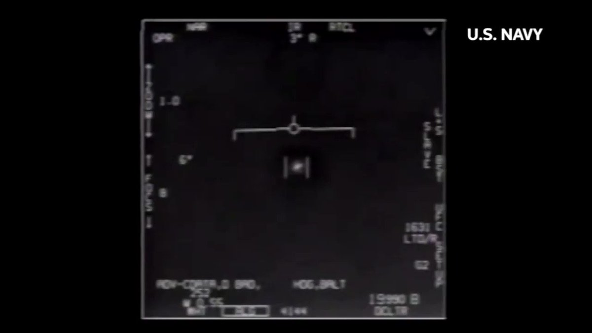 Pentagon declassifies three previously leaked videos taken by U.S. Navy pilots that show 'unidentified aerial phenomena,' which some claim are UFOs https://t.co/Yb7NYulgJ0