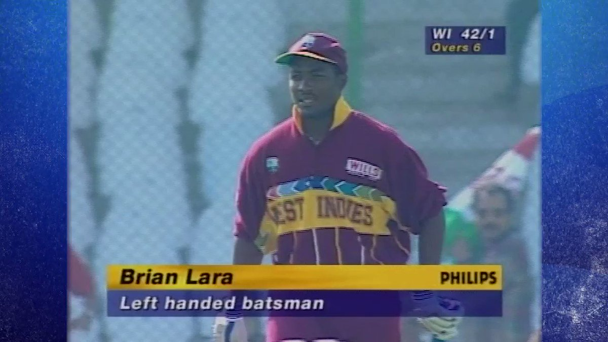 Its Brian Laras birthday, but this gem of an innings is a gift for all of us 😍 From the archives, a classic from the Prince in the 1996 @cricketworldcup. His 111 from 94 balls against South Africa carried West Indies to the semi-final 🍿