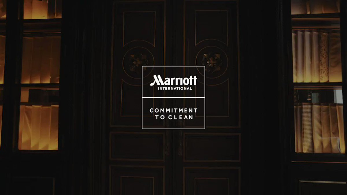 Introducing Marriott's Commitment to Clean. Our new initiative provides cleaner, safer spaces for guests & associates, so you can travel with confidence. Watch our video to learn more. https://t.co/qLufN3AWPD