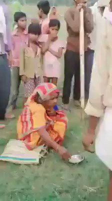 Md Asif Khan‏‎‎‎‎‎‎ - Happening in 21st century!  3 women were accused of witchcraft, they were beaten up, paraded half naked and tonsured, forced to consume faeces and urine by villagers.  This shameful incident happened in Muzaffarpur, Bihar
