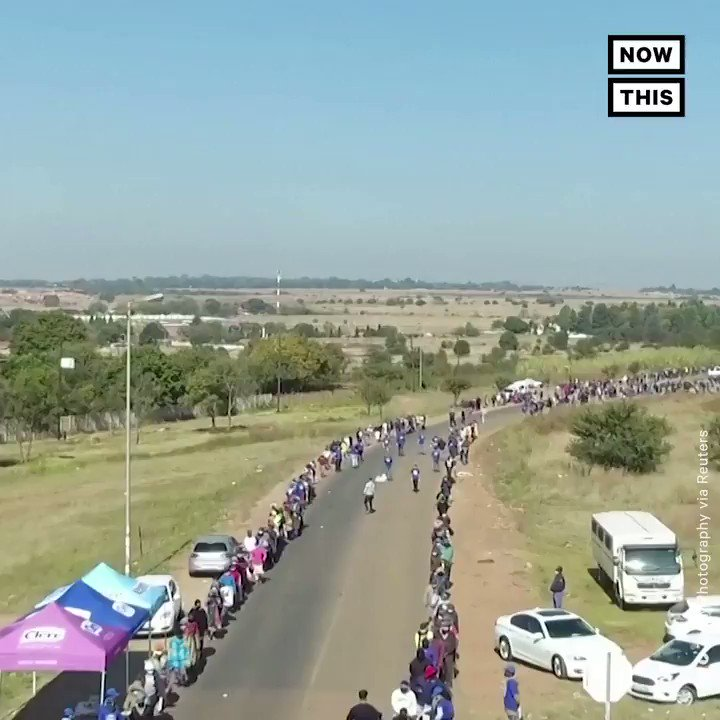 For the second week in a row, thousands of South Africans waited in miles-long lines for food, highlighting the human cost of the country's coronavirus restrictions