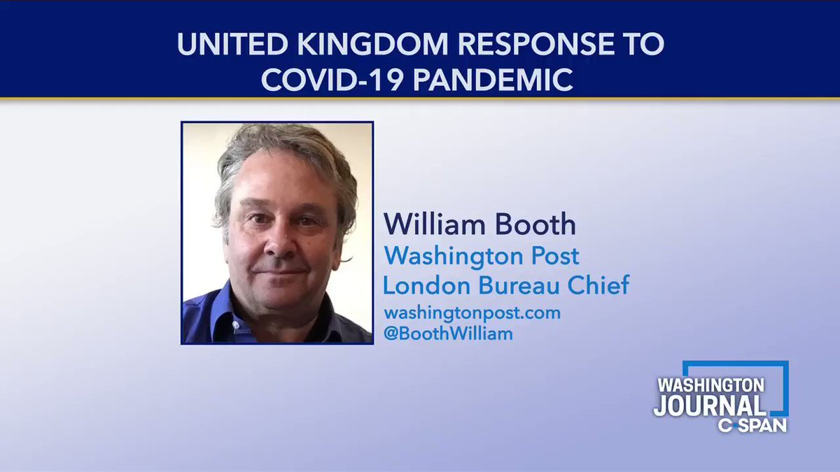 .@BoothWilliam on Boris Johnsons response to COVID-19: His governments approach going into the epidemic was criticized as slow...but now theyre coming out of the lockdown slower also so some people are thinking that might be Boriss personal experience with the virus