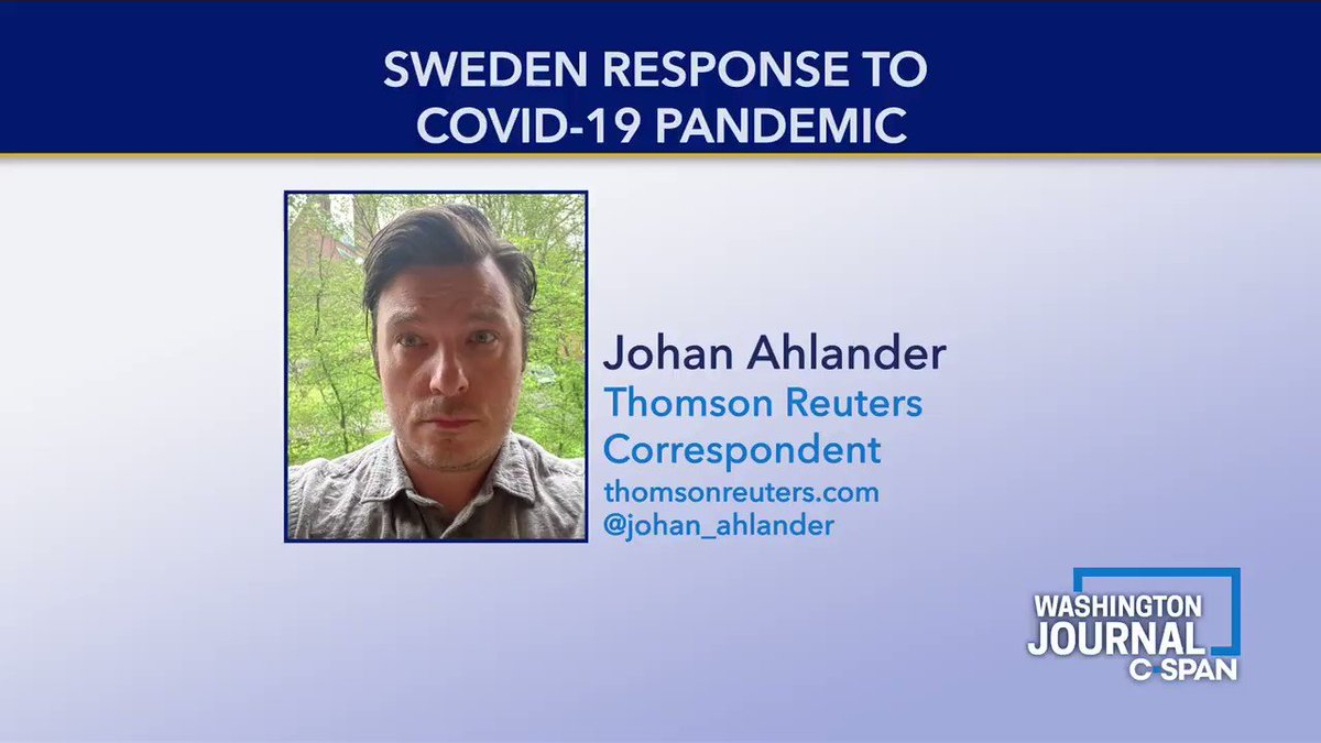 .@johan_ahlander on Swedens response to the pandemic We have had very clear guidelines for social distancing & people in Sweden have been social distancing themselves a lot. The spread is slowing...but we have a higher number of deaths than our Nordic neighboring countries