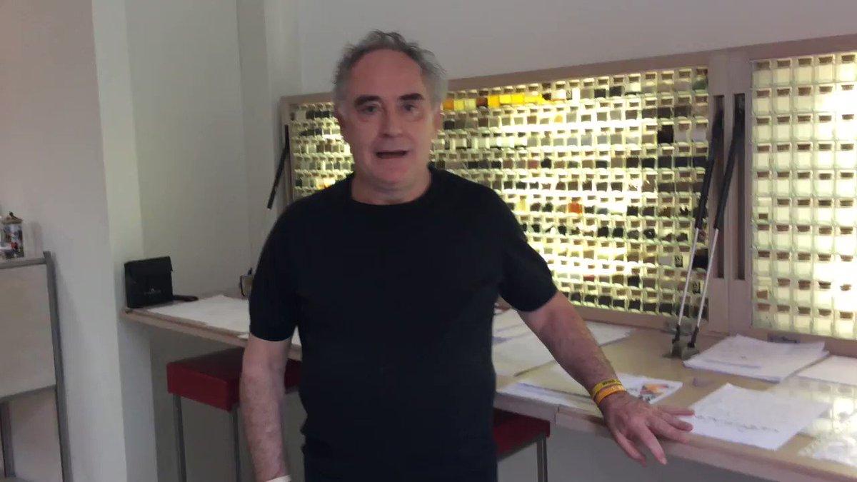 Hoy os presento #LABulligrafía, un archivo-museo que cumplirá con la misión de salvaguardar el legado de #elBulli. Aquí podéis ver la maqueta https://t.co/3lYymJvylT y unas fotos del proceso de ordenación https://t.co/Y4sDDVsDOW. Os veo el lunes a las 11:30. #SeguimosConectados https://t.co/RNQGRjeT4q