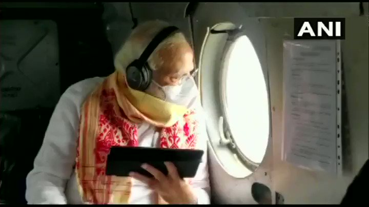 @narendramodi Mamata Didi many times attacked Modi Ji intentionally, but look today PM @narendramodi Ji keeping Politics outside, doing aerial survey of areas affected by Amphan in West Bengal.🙏🏻♥️ https://t.co/c4lc64xaaE