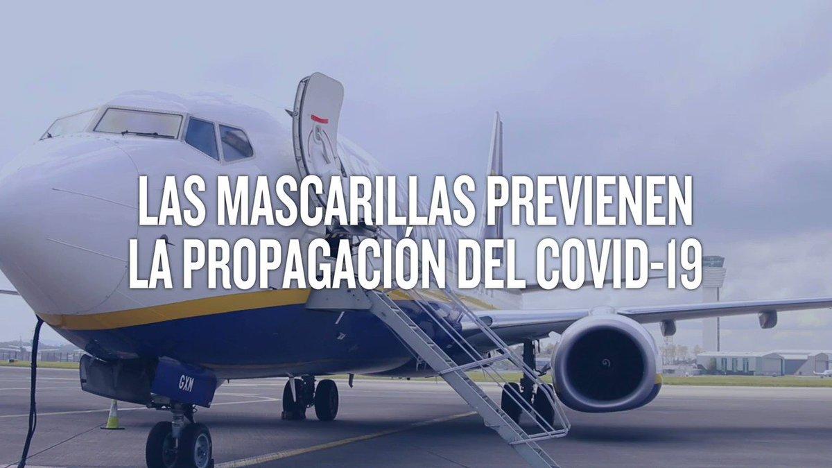 A nuestro regreso, las mascarillas serán obligatorias en todos nuestros vuelos 😷✈️ A continuación, te mostramos por qué juegan un papel tan importante en la reducción de la propagación del COVID-19👇