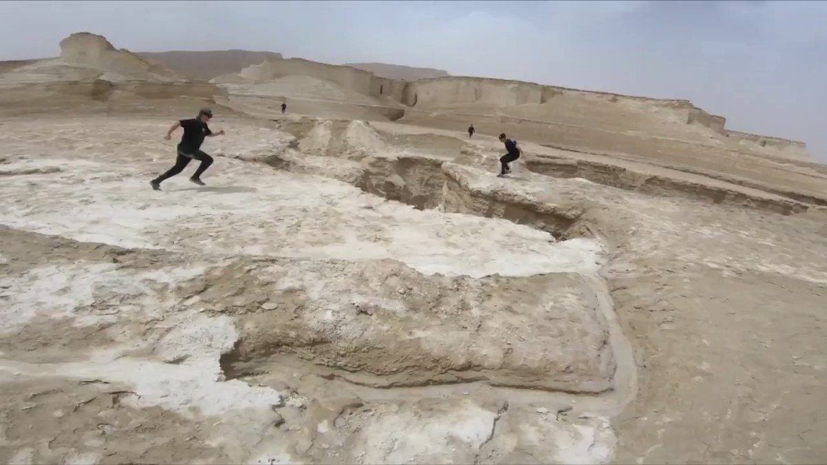 This extreme parkour team likes to leap between skyscrapers and launch themselves off cliffs https://t.co/YBGyGxXgEv https://t.co/e96ZcO87NI