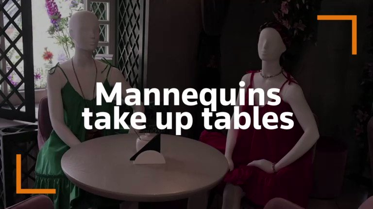 A restaurant in Lithuania asks local designers to dress up some mannequins and seat them at the tables to coax customers https://t.co/2i9qzoDH43 https://t.co/tjAQ23gVnc