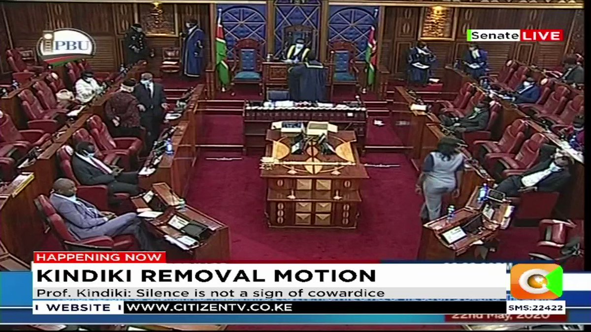 BREAKING: Jubilee Party rebels purge continues as 54 Senators vote out Deputy Speaker Kithure Kindiki over insubordination allegations, 7 oppose      #KindikiOuster https://t.co/9ieycCQOA8