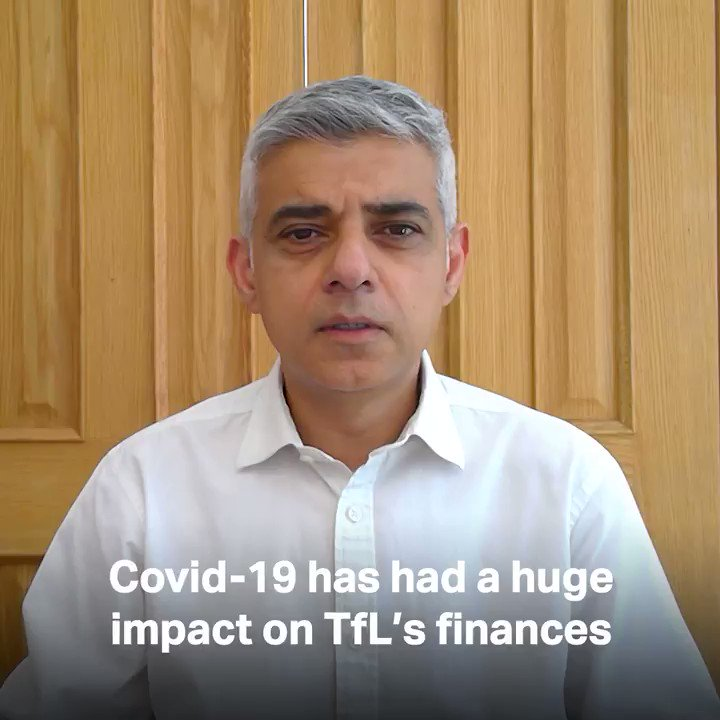 Dear Londoner, I badly messed up the finances of TfL, which would have needed a bailout even before the Covid crisis. I will continue always to blame someone else for my failings. Nothing is ever my fault. Yours,  Sadiq
