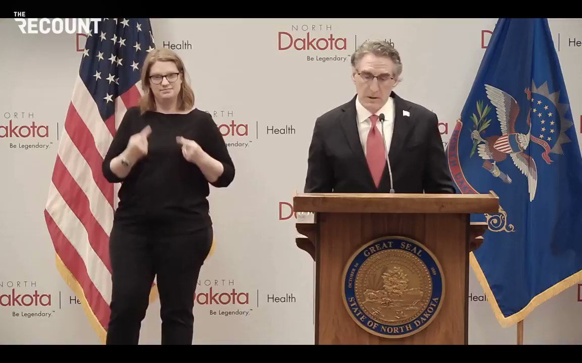 North Dakota Governor tearfully calls out 'mask shaming'. Wearing a mask isnt about protecting yourself. Its about protecting seniors, cancer victims, essential workers, and people you will never meet. It's not about freedom - it's about caring.