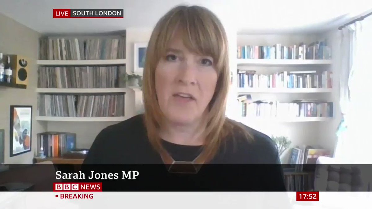 """""""That press conference was an insult""""   Shadow policing minister Sarah Jones says Boris Johnson took a """"nakedly political decision to shift the rules"""" to defend his chief aide Dominic Cummings   http://bbc.in/2Zx4vIPpic.twitter.com/xkmkFZNDkz"""