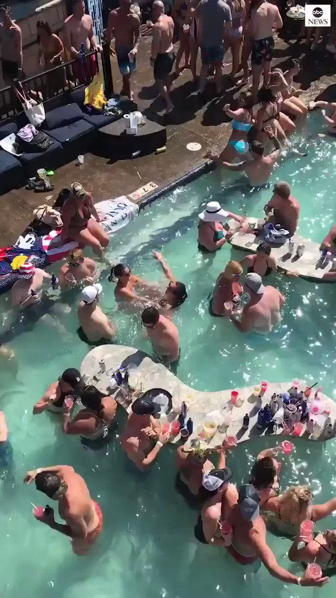 Viral video shows large crowd gathered with apparent lack of social distancing on Memorial Day weekend in Missouri.
