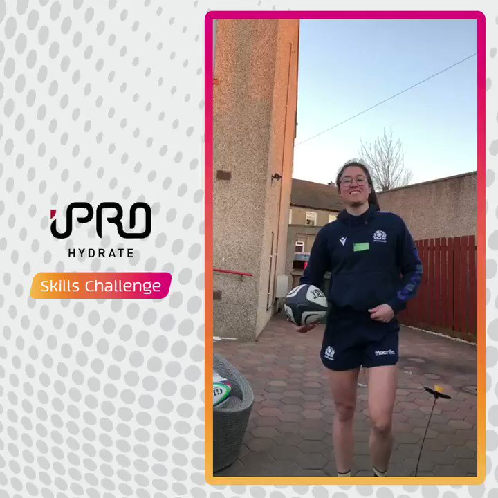 Impressive kicking @RhonaLloyd96! 🤩 Give this @iProHydrate Skills Challenge a go and get creative with objects you have at home or in your garden. Show us how you get on using #AsOneAtHome.
