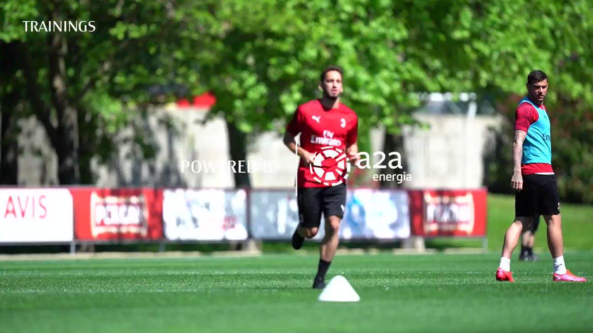 Monday session 🗓  🎥 Watch the video of the Rossoneri in training 🎥 Milanello: le immagini dell'allenamento di oggi #SempreMilan https://t.co/ivbB6eTatB