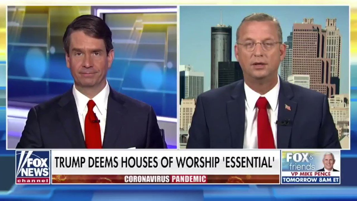By deeming churches essential, @realDonaldTrump is standing for our Constitutional rights. We need to open our churches back up, and we need to do so safely.