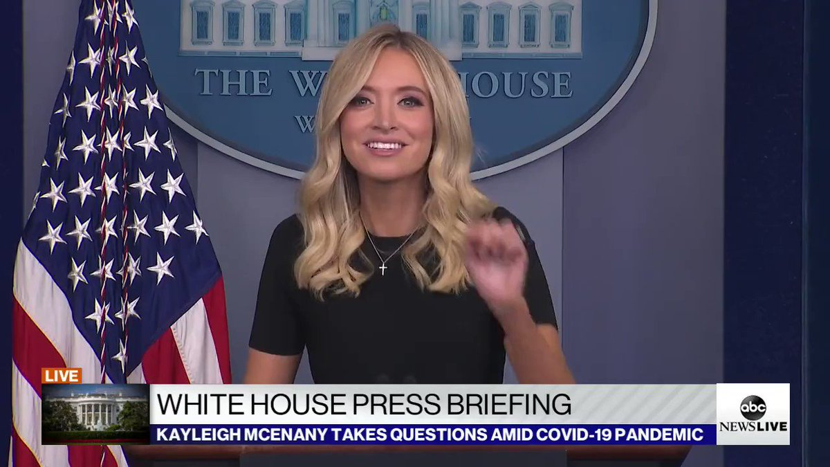 White House Press Secretary @KayleighMcEnany: One death is too many, President @realDonaldTrump has done everything in his power to keep the #Coronavirus death toll as low as humanly possible pic.twitter.com/hAy4mUN4Gk