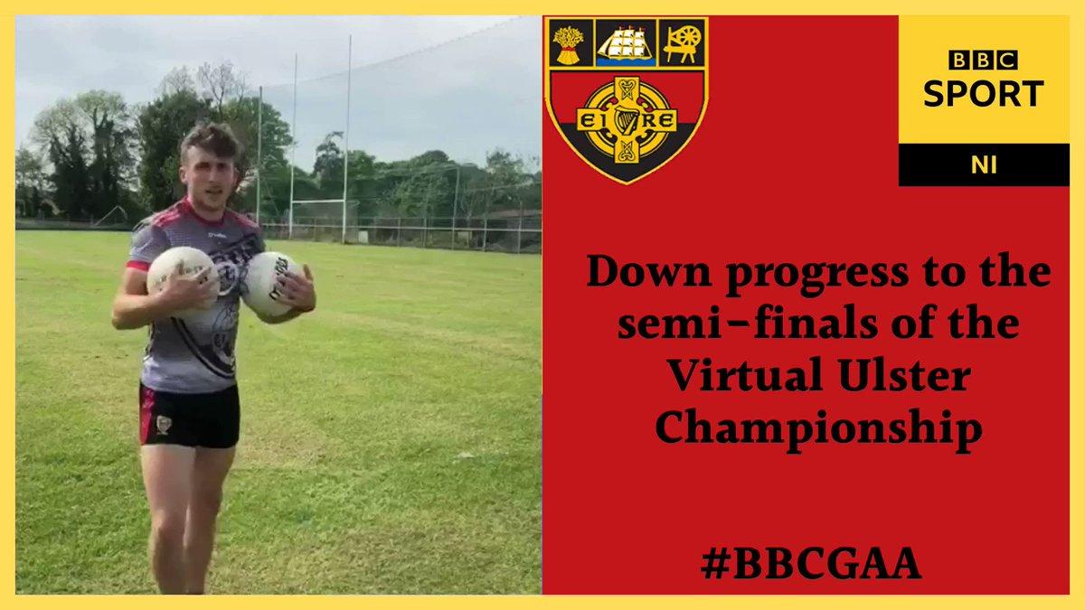 🏆 The Virtual Ulster Championship 🏆 🚨 Result! 🚨 🟢 @FermanaghGAA 33.9% 🔴 @OfficialDownGAA 66.1% 🏐 Barry OHagan books Downs place in the semi-finals 🏐 #BBCGAA   @UlsterGAA   @officialgaa   #GAA