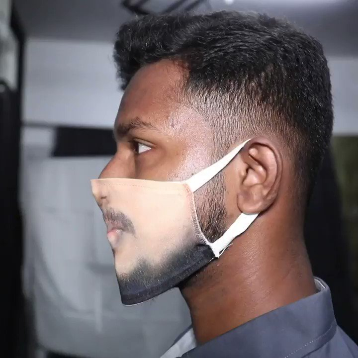 Print your face on a mask? - #Indian photo studio sets a trend with faceprint masks #Chennai #Indiapic.twitter.com/LHebMt2Pss