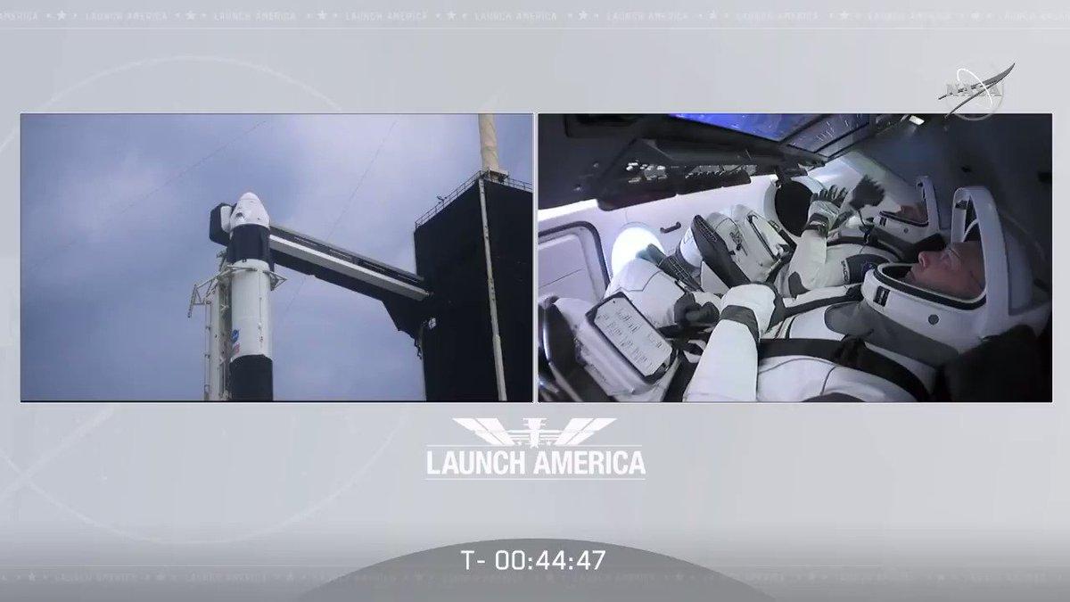 NASA  Crew Access Arm Retracted.#LaunchAmerica