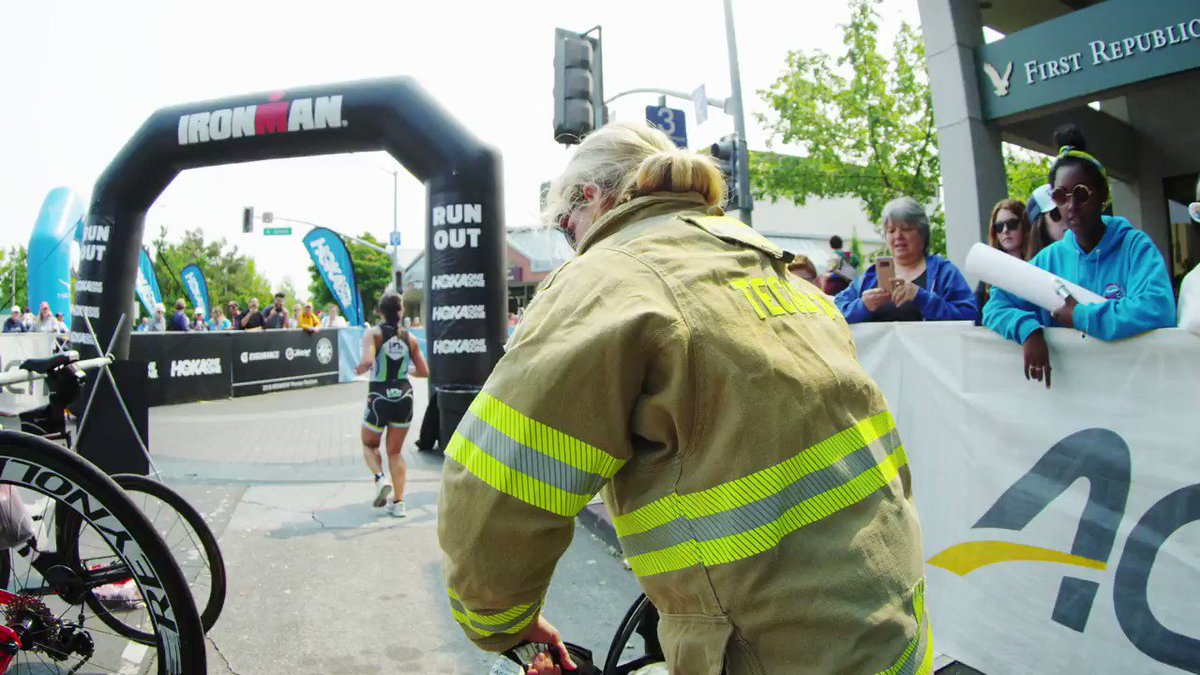 As if an IRONMAN wasn't challenging enough, Diana Woolf races in her firefighter gear to help raise awareness about PTSD. Take a look back at this inspiring story from 2018s #humansofhoka series with @hokaoneone. #AnythingIsPossible #HOKAONEONE #IRONMANtraining #IRONMANtri