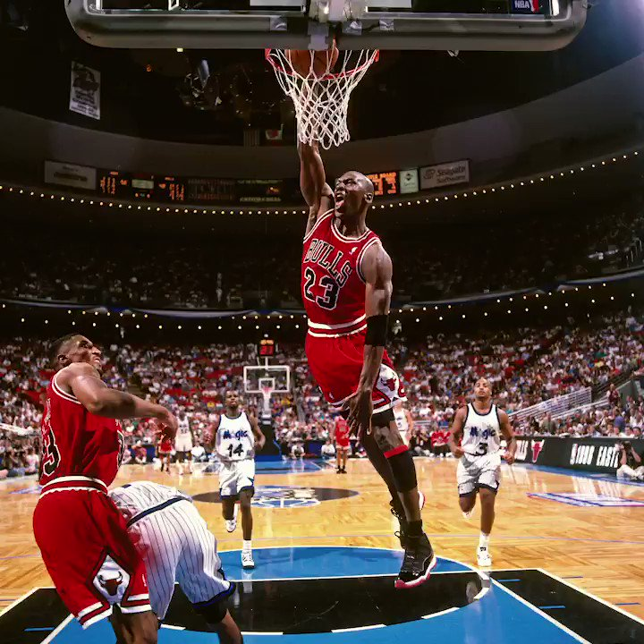Jordan dominated with 45 points on 70% shooting to complete the ECF sweep of the Magic OTD in 1996. https://t.co/k0ChFoQewh
