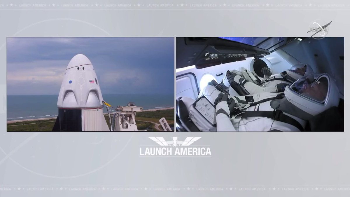 Todays #LaunchAmerica attempt was an instantaneous launch window. Due to orbital mechanics, we need to make sure that at the time we launch, we are able to reach the @Space_Station on time and accurately. Because of this, we could not wait for clear weather today.