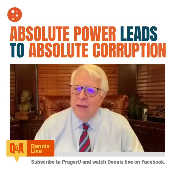 Image for the Tweet beginning: Corruption happens when power is