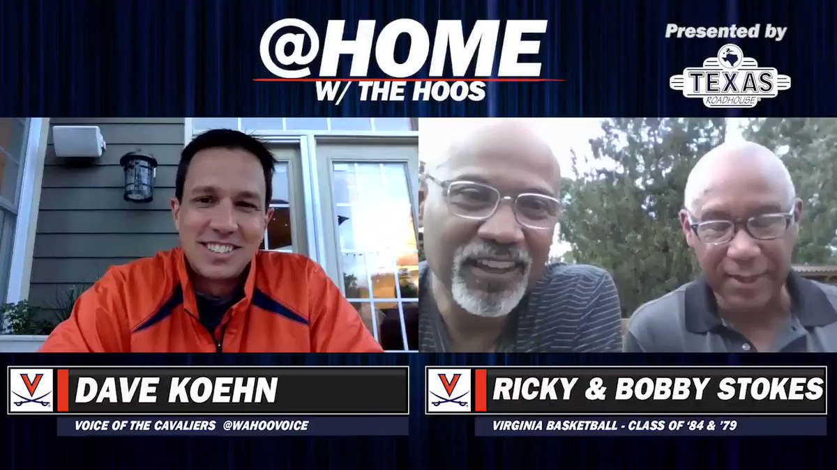 The Stokes brothers give props to @wahoovoice for carrying @JimmyMagicno4 during our 📻 broadcasts! 🙂 🎥⤵️ Full @ Home w/ the Hoos coming tonight at 7 p.m! 🔶⚔️🔷 #GoHoos