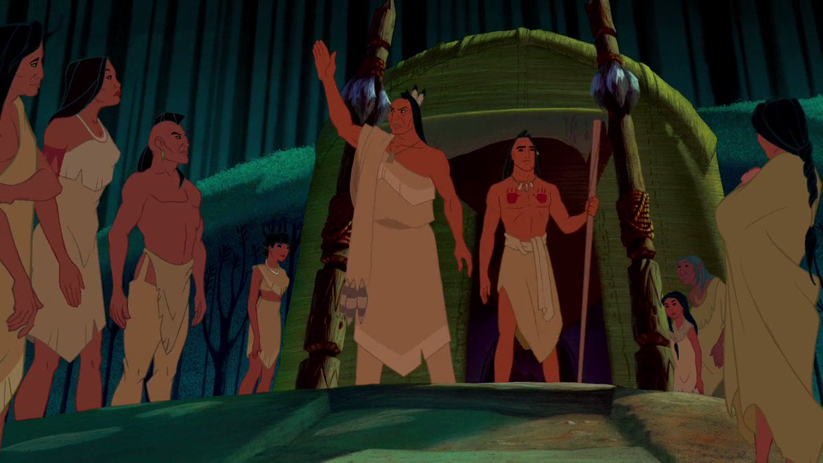 "pocahontas' dad saying ""these white men are dangerous"" on a loop."