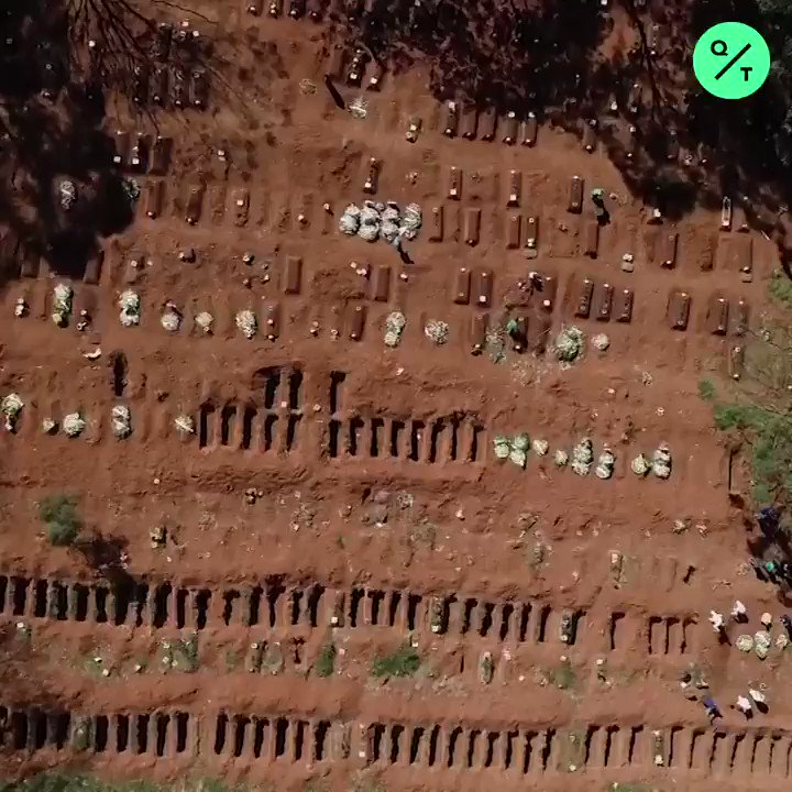 Latin America's largest cemetery, Vila Formosa, is operating at an unprecedented pace to cope with Brazil's high #Covid19 death rate.  Sao Paulo is the epicenter of Brazil's coronavirus crisis https://t.co/bHMv1UxeVr
