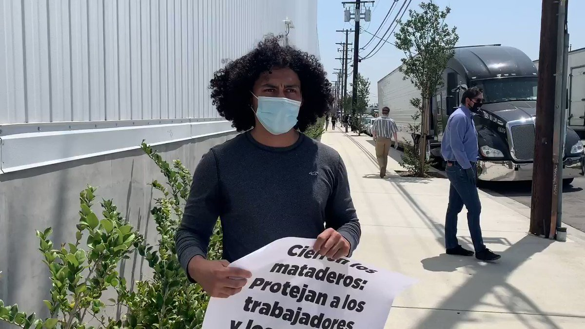 This PETA supporter is sharing how #LA's Farmer John slaughterhouse has harmed his community.  Now, it's even worse — workers and their families are being exposed to #COVID19 because the slaughterhouse won't shut down.pic.twitter.com/wXpNWboHQf