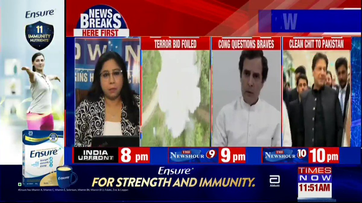 Our worst fears come true. @INCIndia clean-chits Pak again. After Forces foiled Pak terror plot, Congress questions our braves. Details by TIMES NOW's Pradeep Dutta.