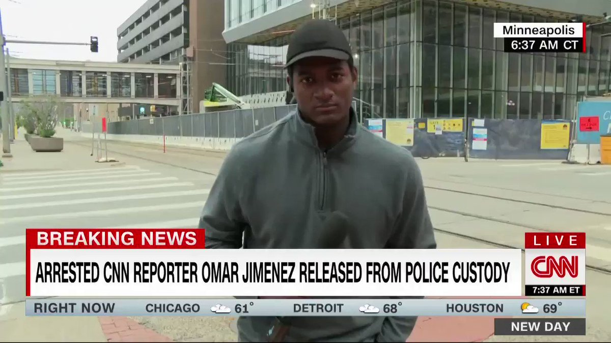 CNN's @OmarJimenez and his crew have been released from police custody. He recounts getting arrested and what happened while they were in custody. cnn.it/2M8PJA5