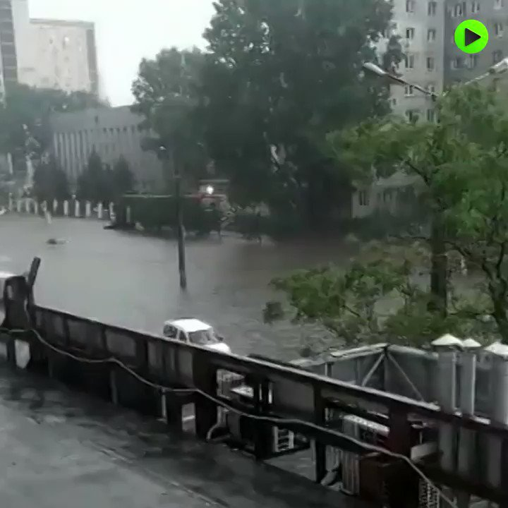 Submerged streets and serious traffic problems | Ukraine's #Odessa flooded due to heavy rainfall pic.twitter.com/aqyFKXAD8u